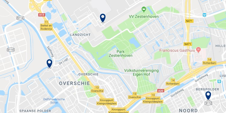 Rotterdam - Overschie & Rotterdam's airport - Click to see all hotels on a map