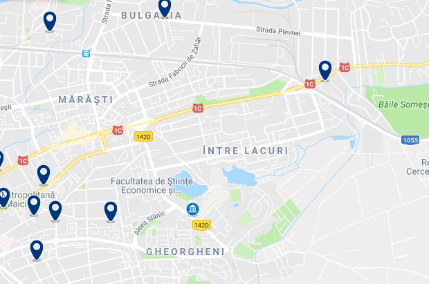 Cluj-Napoca - Gheorgheni & Intre Lacuri - Click to see all hotels on a map