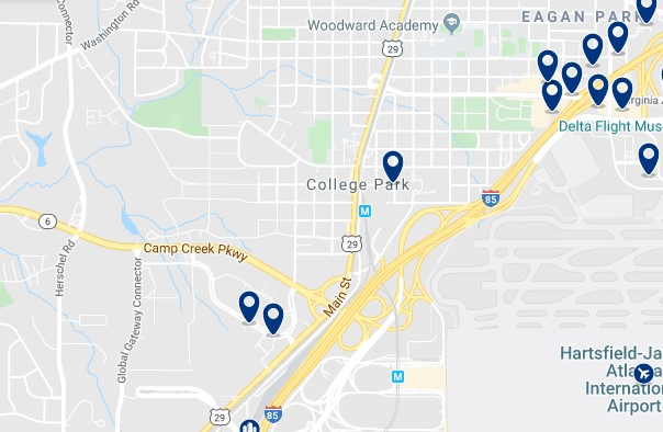Atlanta - College Park - Click to see all hotels on a map