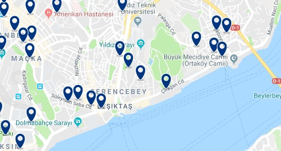 Istanbul - Besiktas - Click to see all hotels on a map
