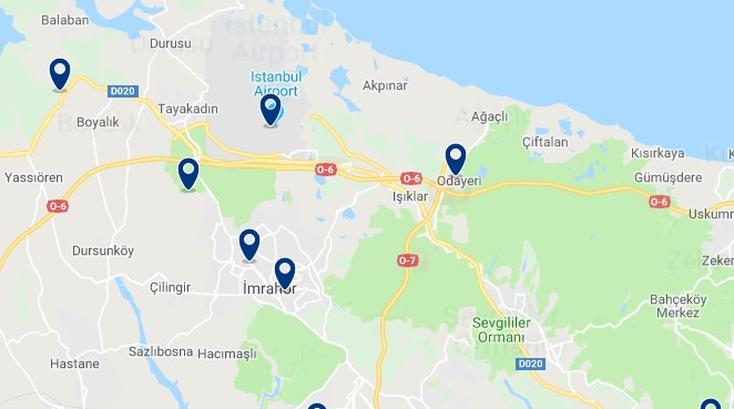 Istanbul - Neart Istanbul Airport - Click to see all hotels on a map