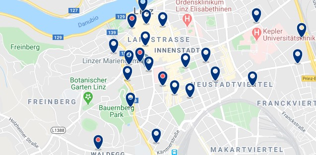 Linz - Altstadt - Click to see all hotels on a map