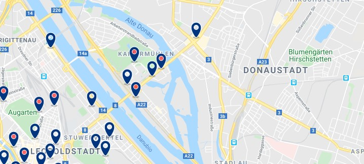 Viena - Donaustadt - Click to see all hotels on a map