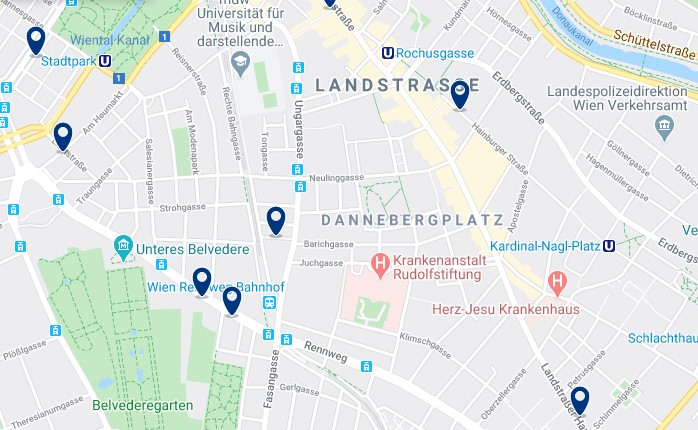 Viena - Landstraße - Click to see all hotels on a map