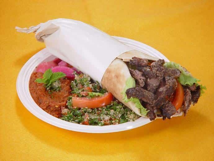 Gastronomía libanesa - Shawarma