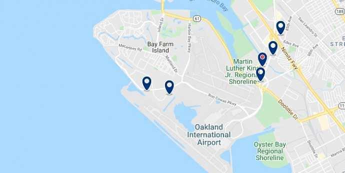 Oakland - Aeropuerto - Haz clic para ver todos los hoteles en un mapa