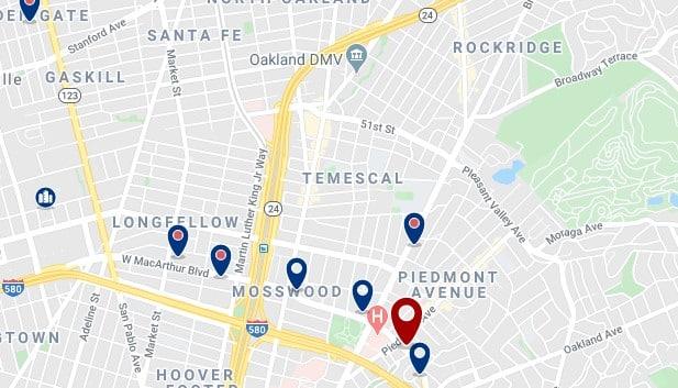 Oakland - Temescal - Haz clic para ver todos los hoteles en un mapa