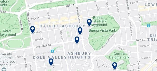 San Francisco - Haight-Ashbury - Haz clic para ver todos los hoteles en un mapa