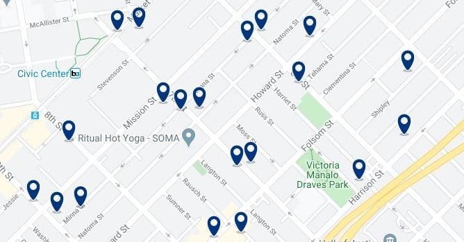 San Francisco - SOMA - Haz clic para ver todos los hoteles en un mapa