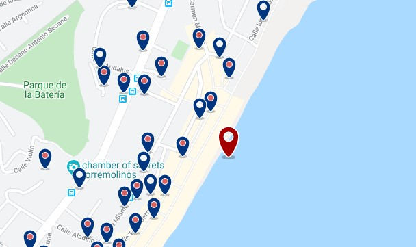 Torremolinos - La Carihuela - Click to see all hotels on a map