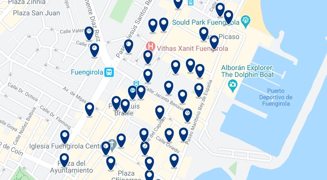 Fuengirola - City Centre - Click to see all hotels on a map