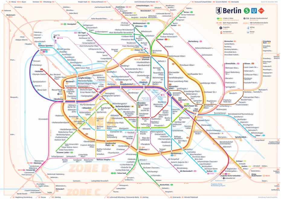 Mapa del metro de Berlin