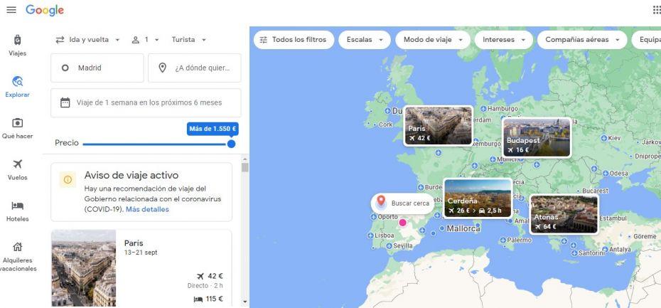 Viajar barato usando Google